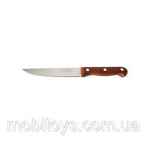 Нож кухонный с коричневой ручкой