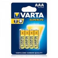 Батарейка VARTA SUPERLIFE R-3 ААА Блистер (солевая) 4шт / бл. 48шт. / Ок 187