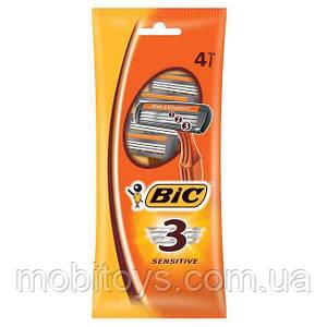 Станок BIC 3 лезвия (4шт.) (Оранж уп.)