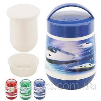 Термос пищевой пластик + стекло 1.2л арт. J00043