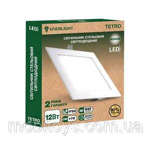 Светильнык потолочный светодиодный ENERLIGHT TETRO 12Вт 4000К Ш.К. 4823093500624