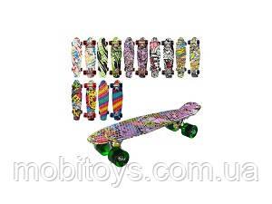 Скейт алюм. (Пени, подвеска, колеса ПУ, 8 цвет.) Арт. MS 0748-1