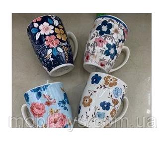 """Чашка """"Цветы"""" 12шт / пал, STU16125-3"""