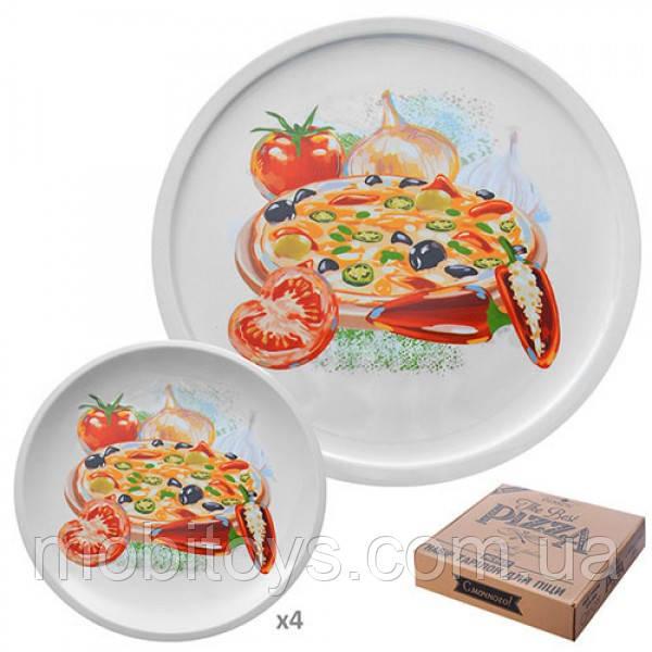 Набор тарелок для пиццы и блинов 5шт. / Наб