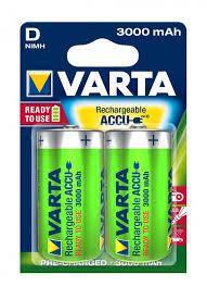Аккумулятор VARTA RECHARGEABLE ACCU D 3000mAh BLI 2 NI-MH (READY 2 USE) ш.к.4008496550777