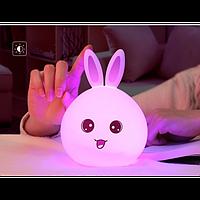 Силіконовий нічник 3DTOYSLAMP Кролик з вушками, підсвітка 7 кольорів (51282)