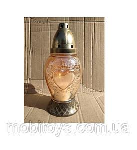 Лампадка стеклянная Тюльпан 42год. 12шт / ящ