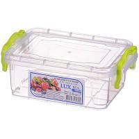 """0,5л. Контейнер пищевой Lux №3 (16,2 * 11,2 * 6,5см) """"AL-Plastik"""""""