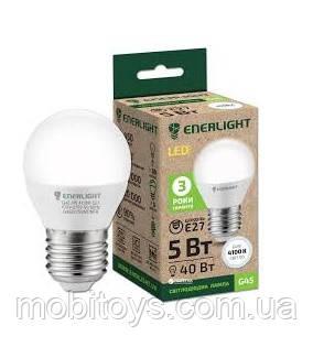 Сфера Лампа светодиодная ENERLIGHT G45 5Вт 3000K E27 Ш.К. 4823093500273