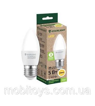 Свеча Лампа светодиодная ENERLIGHT С37 5 Вт 3000K E27 Ш.К. 4823093500174