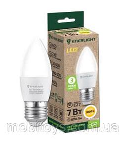 Свеча Лампа светодиодная ENERLIGHT С37 7Вт E27 3000K Ш.К. 4823093502703