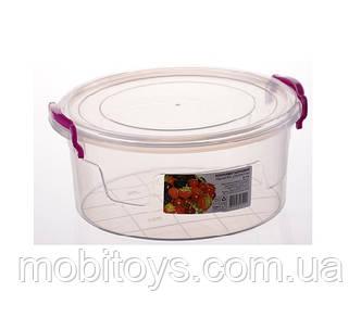 """2,1л. Контейнер пищевой Round Box (21 * 20 * 9.3см) """"AL-Plastik"""""""