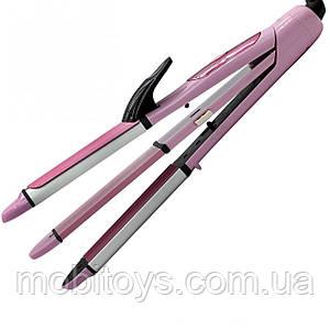 Стайлер для волос 3в1 Плойка, Утюжок, гофре Gemei GM-2966 (3564)