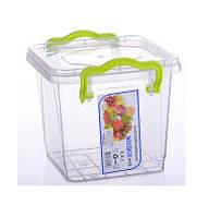 """Универсальный контейнер пищевой квадратный 0,6 л """"AL-Plastik"""" (аналог Lux)"""