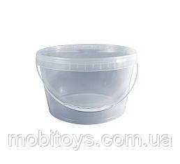 Ведерко прозрачное пищевое 3,3л. д22,1см / в.11,2см.