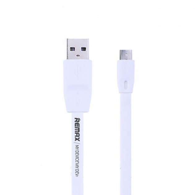 USB КабельRemax RC-001m Full Speed ​​Micro-USB Flat 1M (1m)