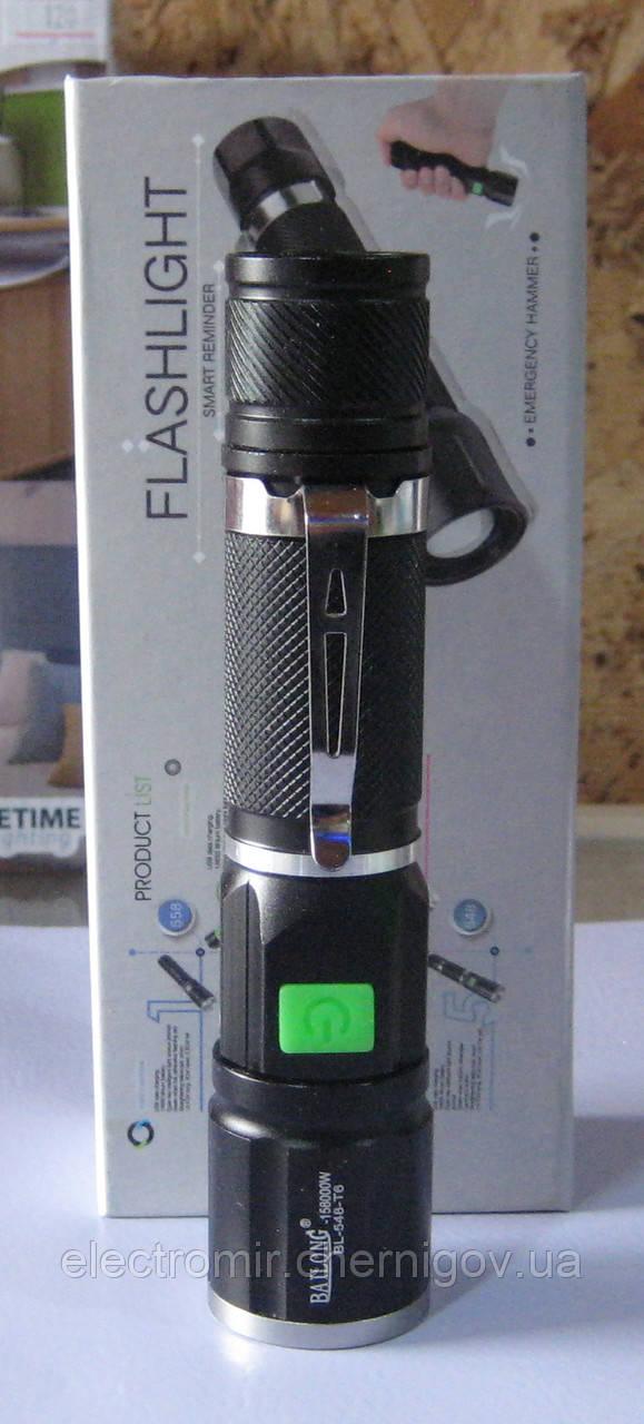 Ліхтар ручний з micro USB зарядкою Bailong BL-548-T6
