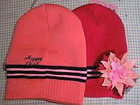 Детская шапка девочка цветок