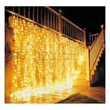 Светодиодная уличная гирлянда занавес, новогодняя led штора 2*3м, фото 5