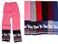 """Детские шерстные штанишки """"Мишки"""" для девочки, оптом - распродажа"""