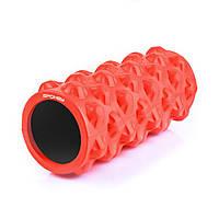 Массажный ролик для йоги и фитнеса 15х33 см Spokey fit0001496 Красный