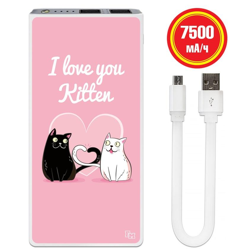 Портативный аккумулятор Kitten, 7500 мАч (E189-56)
