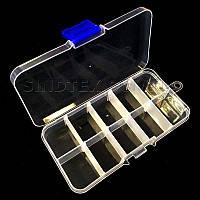 Органайзер для бисера 12,5 х 6,3 х 2,2 пластиковый  (657-Л-0676)
