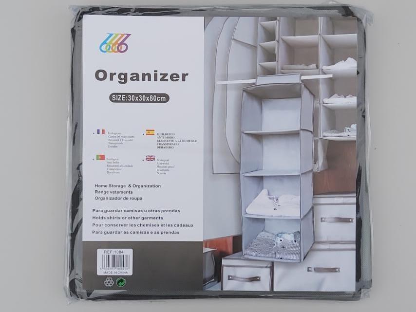 Розмір 30×30×80 см, на 4 секції. Підвісний органайзер для зберігання одягу.