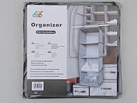 Размер 30×30×80 см, на 4 секции. Подвесной органайзер для хранения одежды.