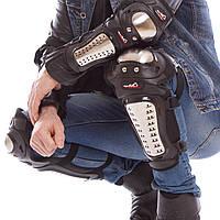 Комплект мотозащиты (колено, голень + предплечье, локоть) 4шт MAD RACING  (PVC, металл, черный), фото 1
