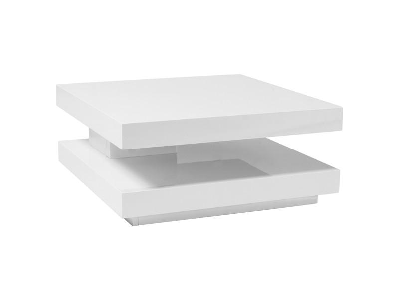 Журнальний стіл розкладний FALON білий лак 75(105)x75x34 (Signal)