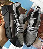 Женские стильные кроссовки текстиль с натуральной кожей черная подошва, фото 2