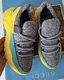Женские стильные кроссовки текстиль с натуральной кожей черная подошва, фото 10