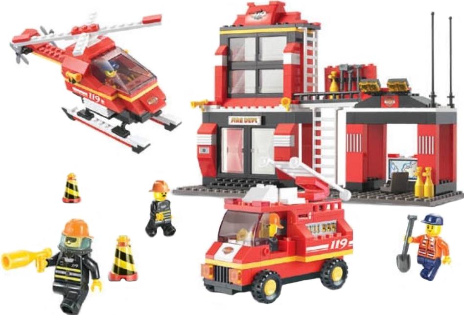 Конструктор SLUBAN Пожарные спасатели M38-B0225, 371 деталей