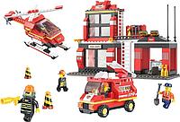 Конструктор SLUBAN Пожарные спасатели M38-B0225R, 371 деталей