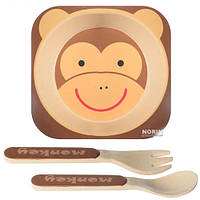 Набор детской посуды STENSON 3 предмета (83772) Бамбук