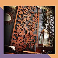 3Д фрезеровка интерьерных МДФ-панелей для кафе и ресторанов