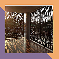 3Д фрезеровка интерьерных МДФ-панелей для летней терассы
