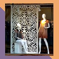 3Д фрезеровка интерьерных МДФ-панелей для магазина одежды