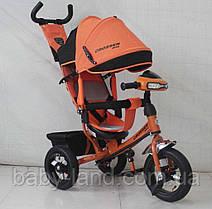 Триколісний велосипед Azimut Crosser One T1 надувні колеса помаранчевий