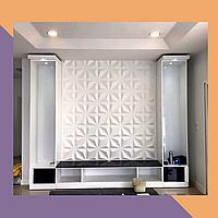 3Д фрезеровка декоративных МДФ-панелей для гостинной