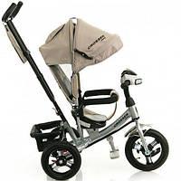 Трехколесный велосипед Azimut Crosser One T1 надувные колеса Бежевый