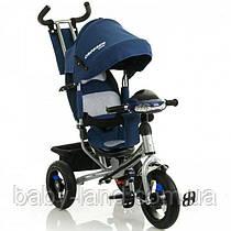 Триколісний велосипед Azimut Crosser One T1 надувні колеса Синій