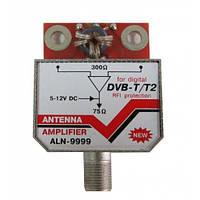 Усилитель антенный SWA-9999 ALN Широкополосный до 150 км 12В с F разъемом (33-42 дБ)