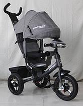 Трехколесный велосипед Azimut Crosser One T1 ЕСО надувные колеса Серый