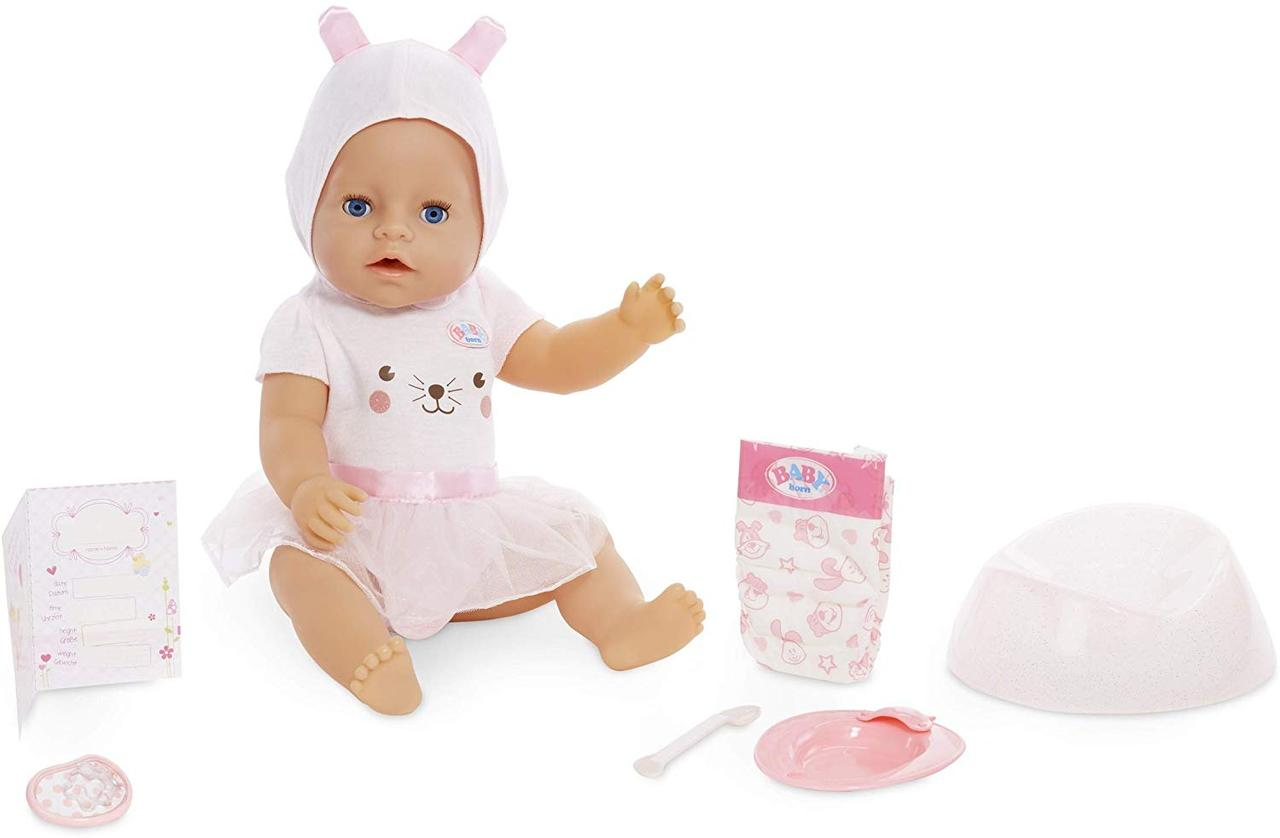Интерактивная кукла Беби Борн голубые глаза Baby Born Interactive Boy Blue Eyes
