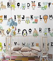 Дизайнерские фотообои с 3D в детскую комнату Азбука Funky ABC Абетка 155 см х 250 см