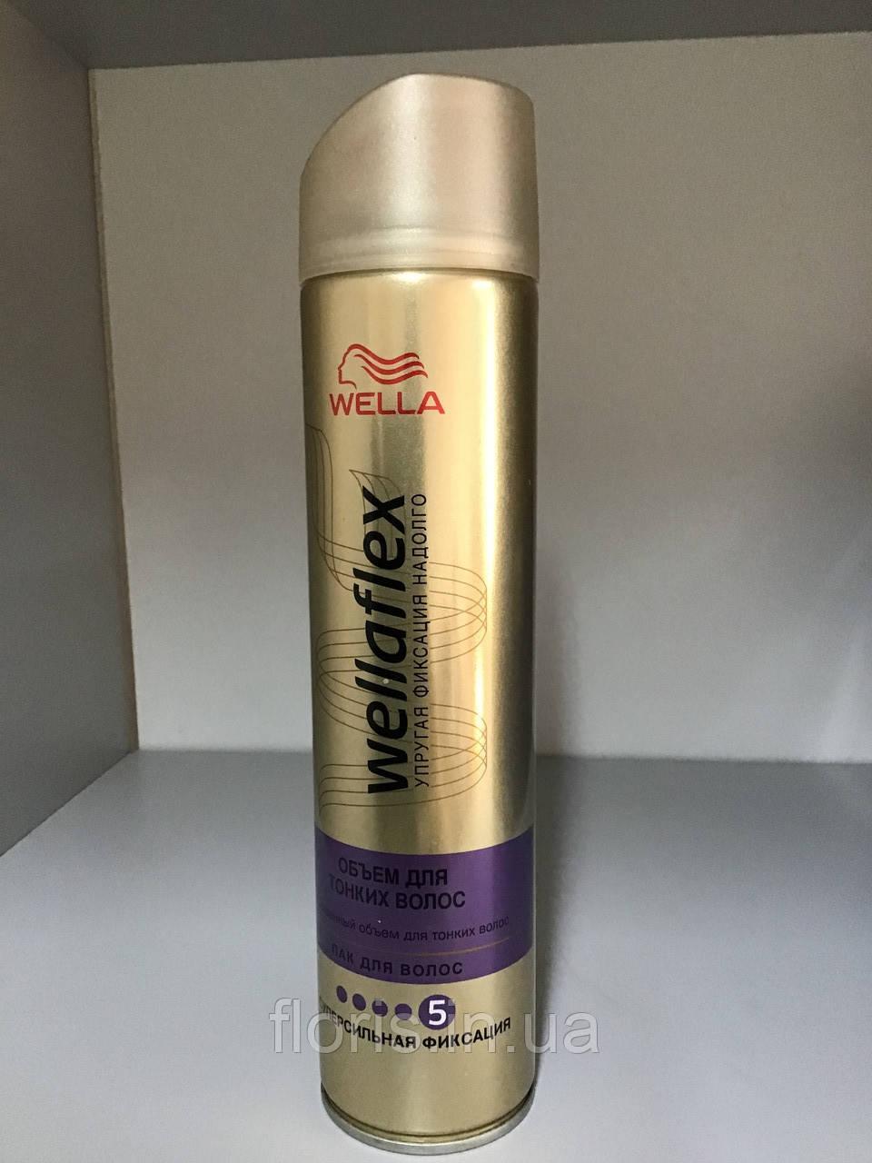 Лак для волосся Wellaflex супер сильної фіксації Об'єм для тонкого волосся, 250 мл