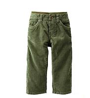 Брюки Вельветовые Carters 72-78 см Зеленый 224А607