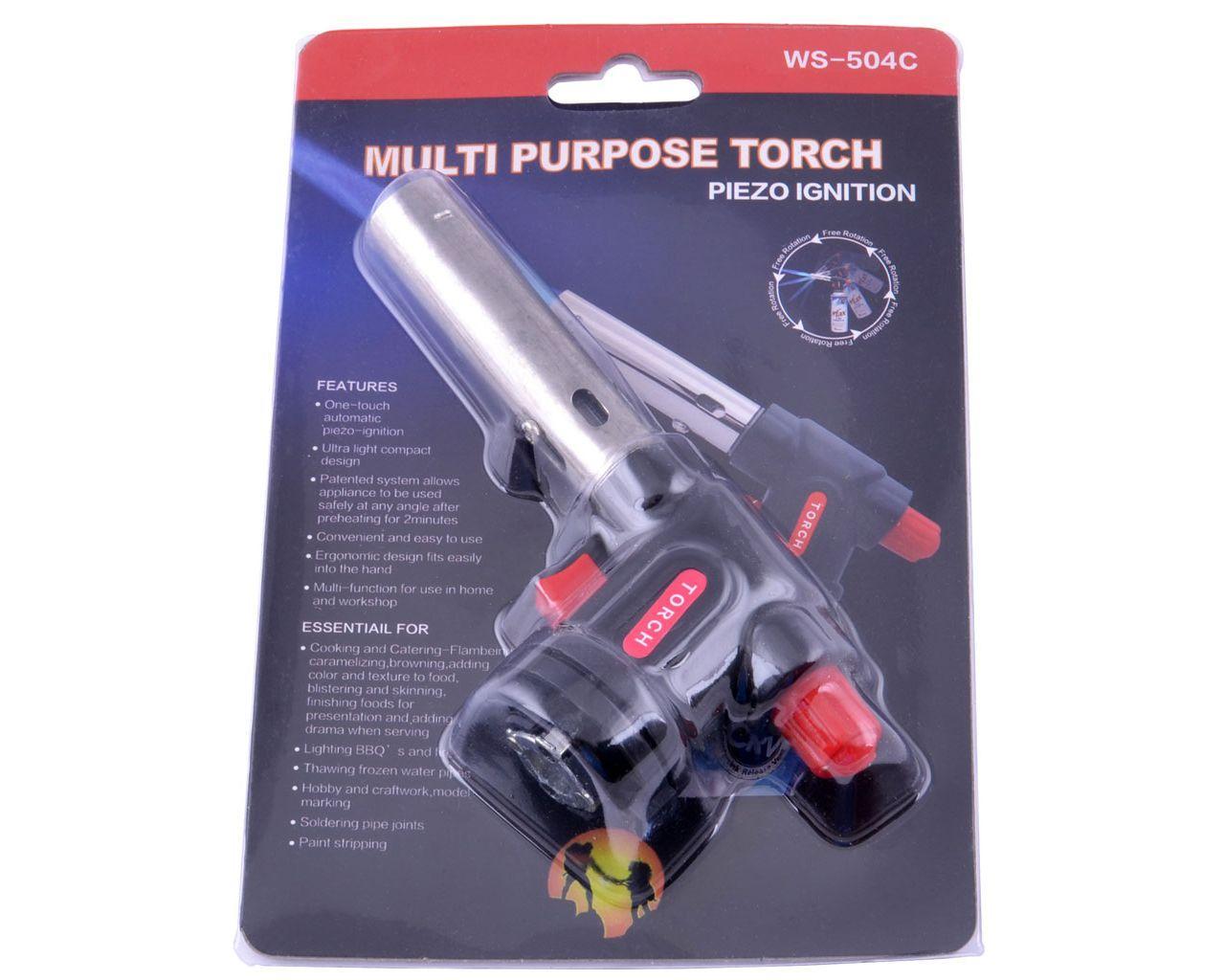 Портативная газовая горелка Multi Purpose Torch WS-504C